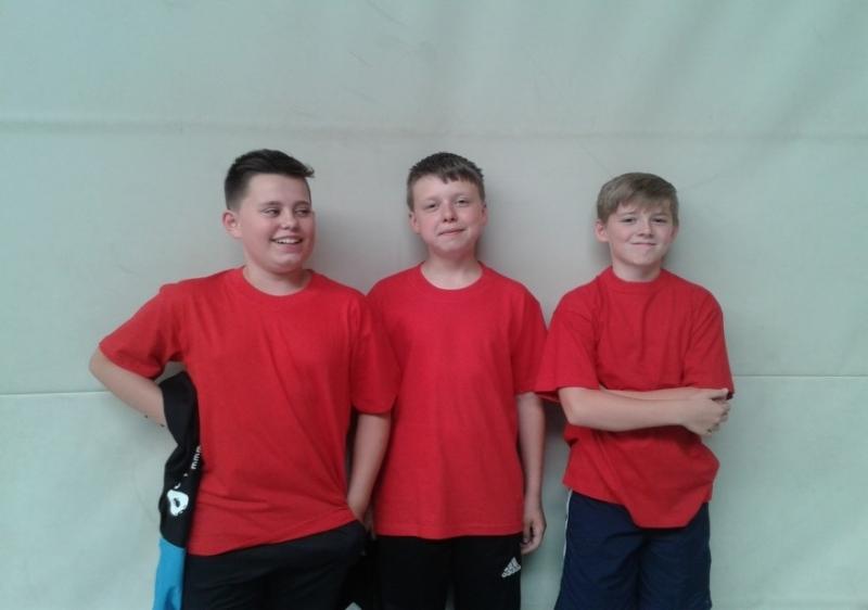 Die A- Schüler Benjamin, Christof und Paul-Ole von links