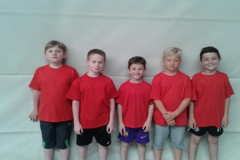 Die C- Schüler Luk, Moritz, Mert, Tom und Ilkay von links
